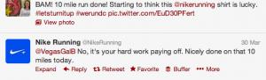 Nike Running Tweet